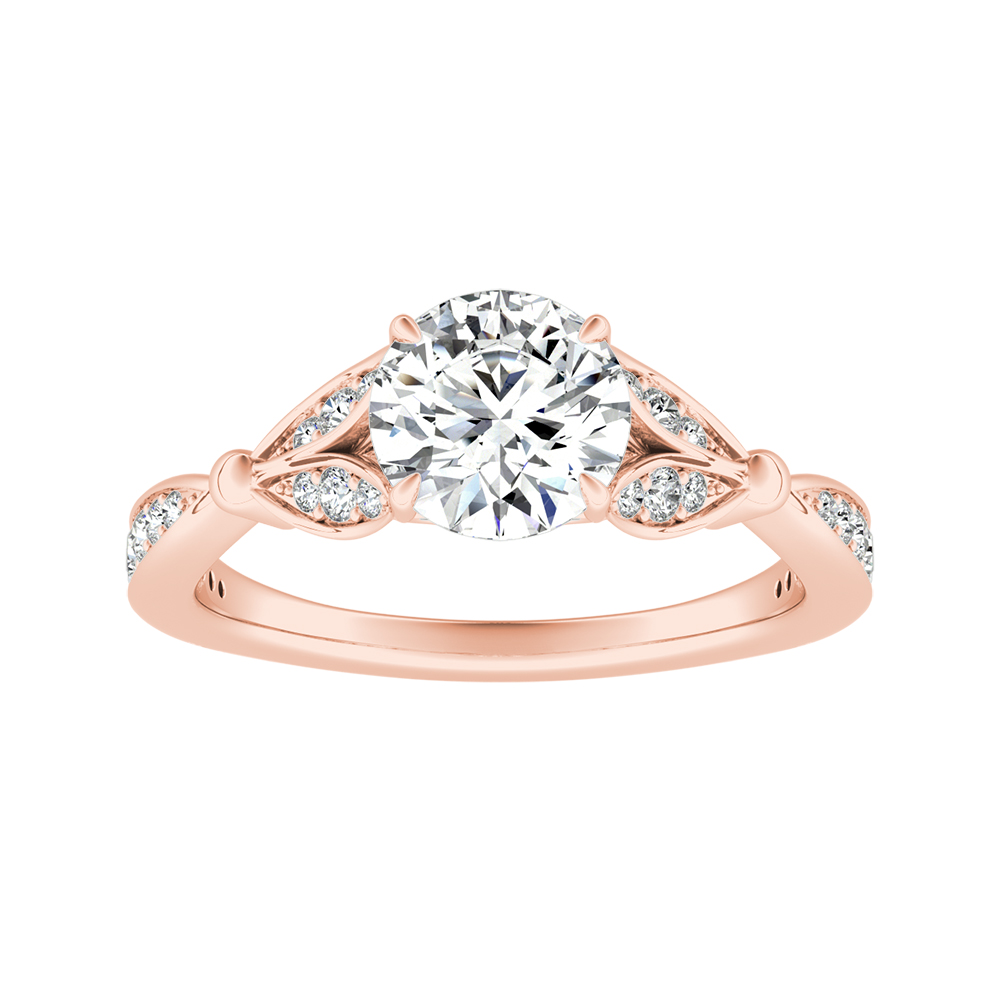 FLEUR Diamond Engagement Ring In 14K Rose Gold