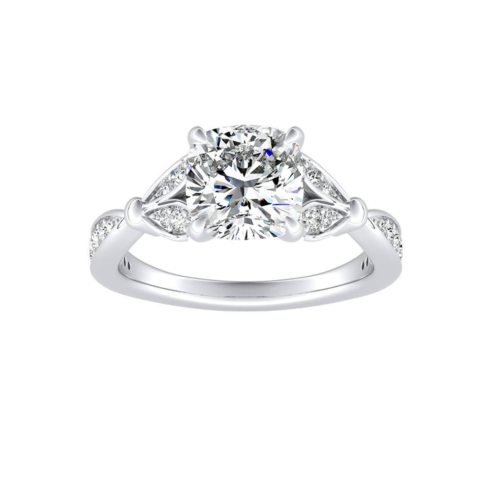 FLEUR Diamond Engagement Ring In 14K White Gold