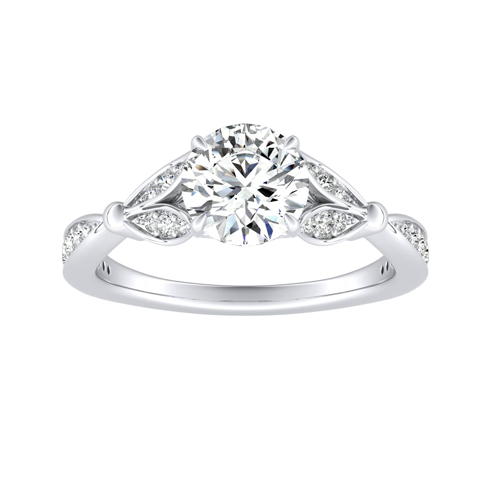 FLEUR Diamond Engagement Ring In 14K White Gold