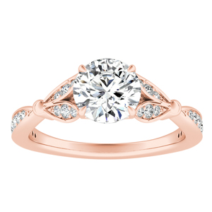FLEUR  Moissanite  Engagement  Ring  In  14K  Rose  Gold  With  0.50  Carat  Round  Stone