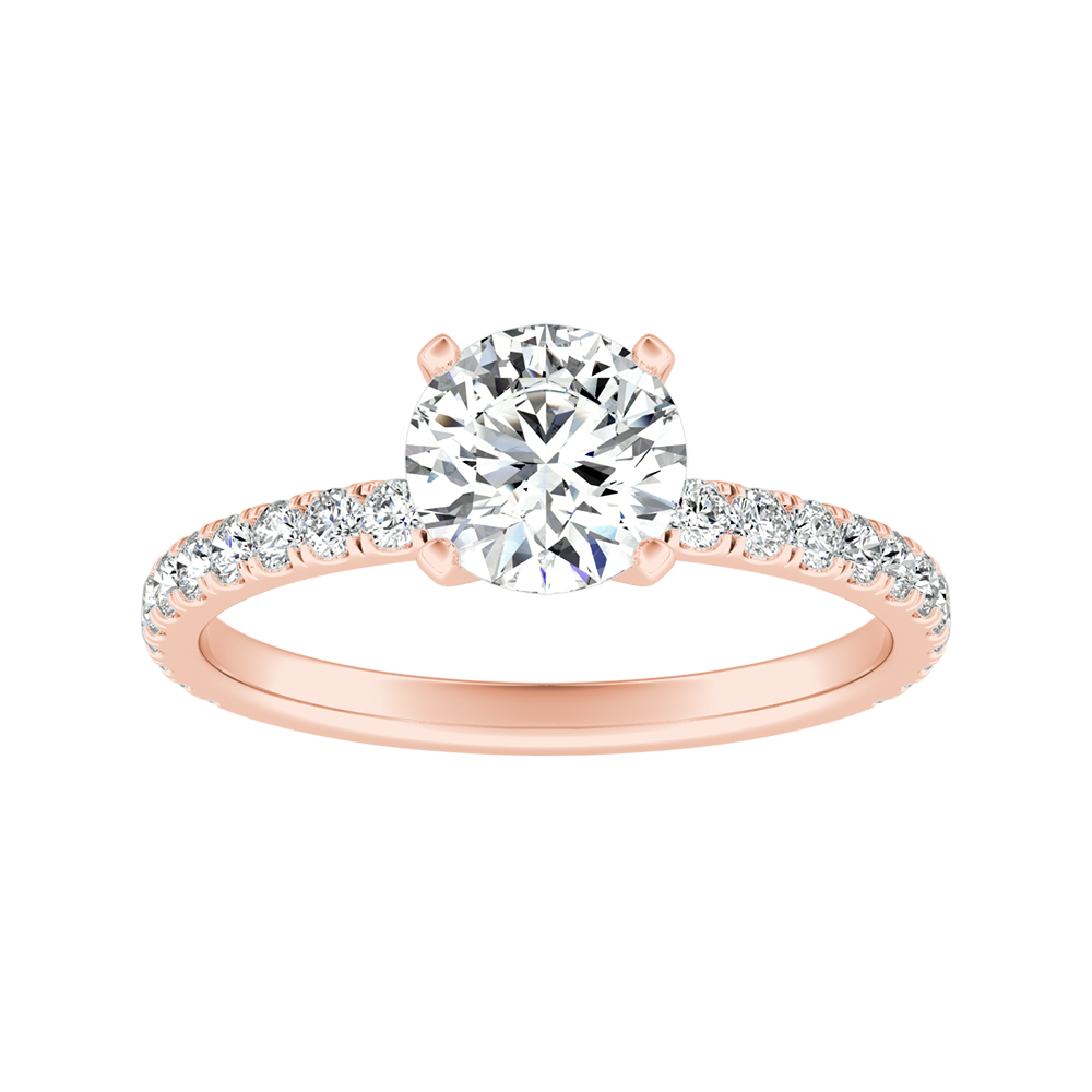 RILEY Classic Diamond Engagement Ring In 14K Rose Gold