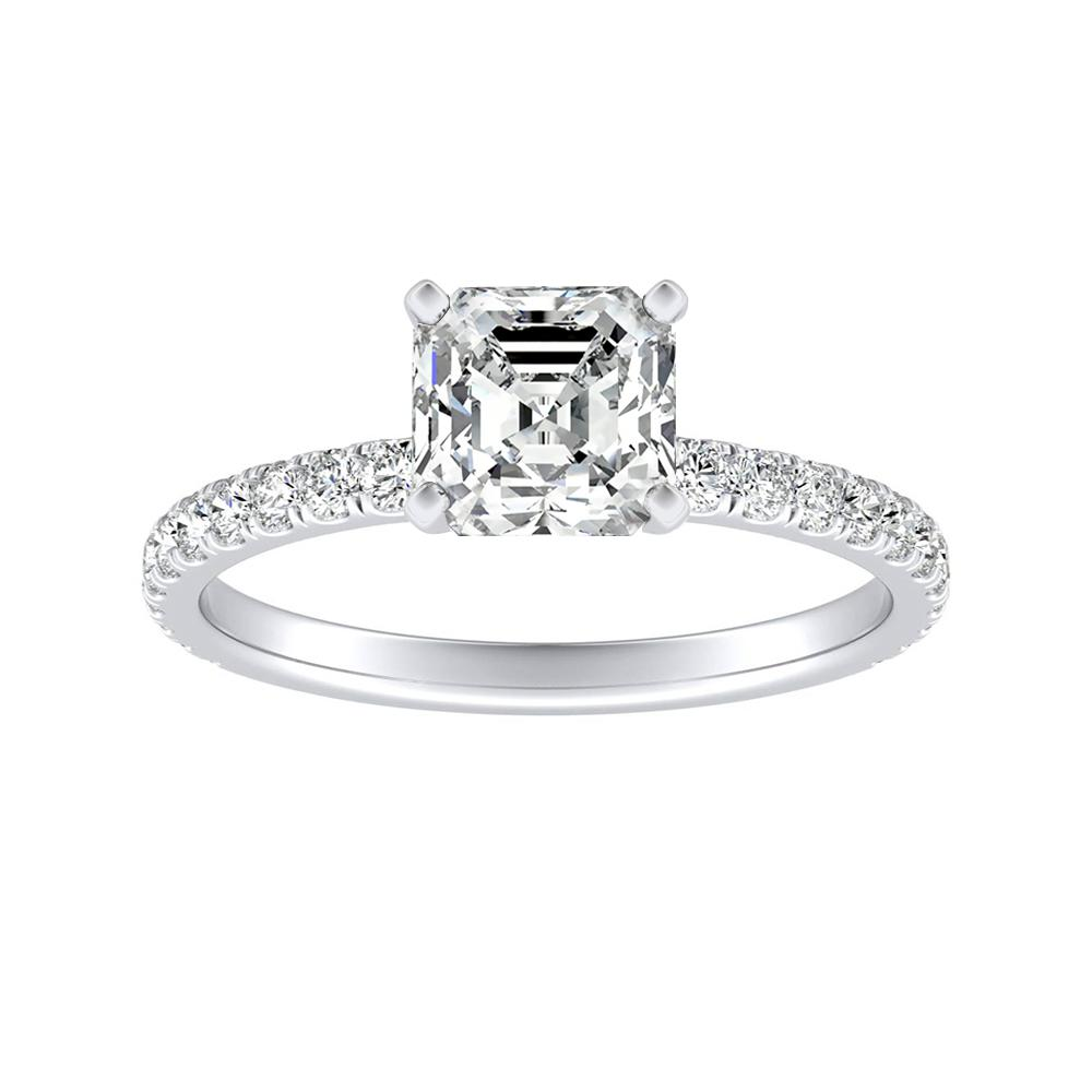 RILEY Classic Diamond Engagement Ring In 14K White Gold