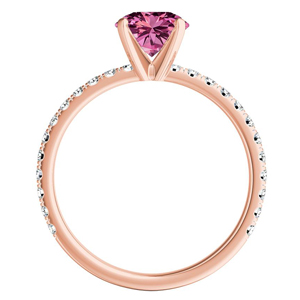 RILEY  Classic  Pink  Sapphire  Engagement  Ring  In  14K  Rose  Gold  With  0.50  Carat  Marquise  Stone