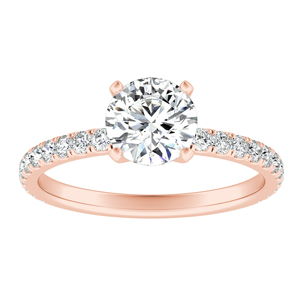 RILEY Classic Diamond Engagement Ring In 14K Rose Gold With GIA Certified 0.50 Carat Round Diamond