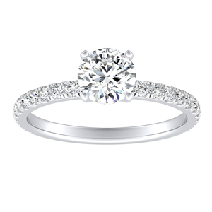 RILEY Classic Diamond Engagement Ring In 14K White Gold With 0.50ct. Round Diamond