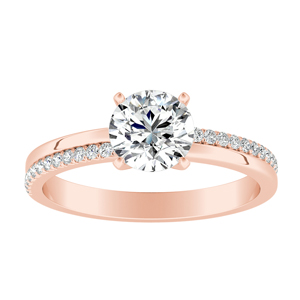 ALISON  Classic  Moissanite  Engagement  Ring  In  14K  Rose  Gold  With  0.50  Carat  Round  Stone