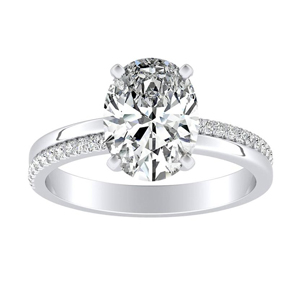 ALISON Classic Diamond Engagement Ring In 14K White Gold