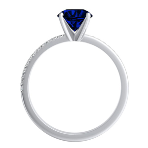 ALISON  Classic  Blue  Sapphire  Engagement  Ring  In  14K  White  Gold  With  0.50  Carat  Pear  Stone