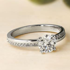 ALISON Classic Diamond Engagement Ring In 14K Rose Gold