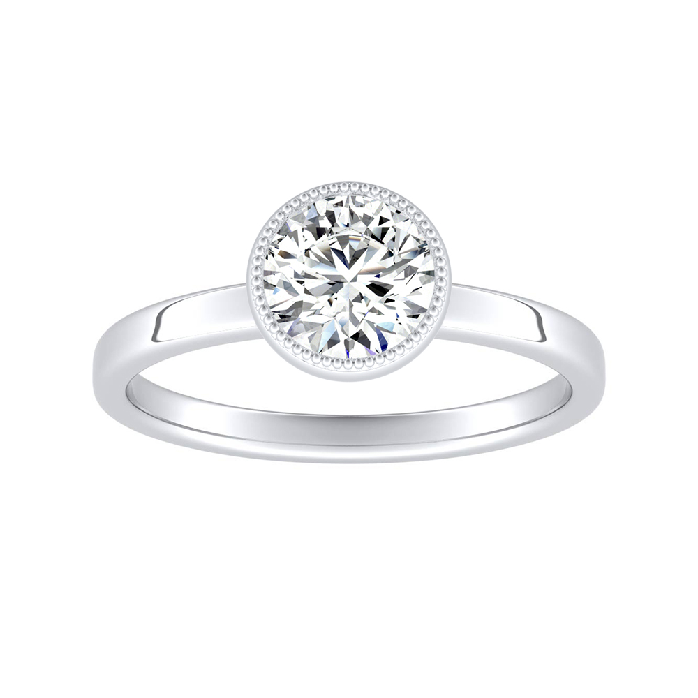 LANA Solitaire Diamond Engagement Ring In 14K White Gold