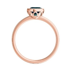 LANA  Solitaire  Blue  Diamond  Engagement  Ring  In  14K  Rose  Gold  With  0.50  Carat  Round  Diamond