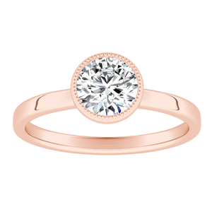 LANA  Solitaire  Moissanite  Engagement  Ring  In  14K  Rose  Gold  With  0.50  Carat  Round  Stone