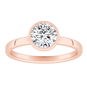 LANA Solitaire Diamond Engagement Ring In 14K Rose Gold