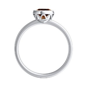LANA  Solitaire  Brown  Diamond  Engagement  Ring  In  Platinum  With  0.50  Carat  Round  Diamond