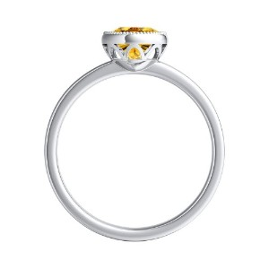 LANA  Solitaire  Yellow  Diamond  Engagement  Ring  In  Platinum  With  0.50  Carat  Round  Diamond