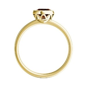 LANA  Solitaire  Brown  Diamond  Engagement  Ring  In  14K  Yellow  Gold  With  0.50  Carat  Round  Diamond