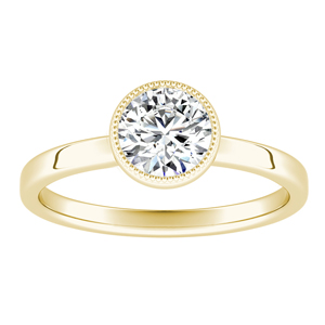 LANA  Solitaire  Moissanite  Engagement  Ring  In  14K  Yellow  Gold  With  0.50  Carat  Round  Stone