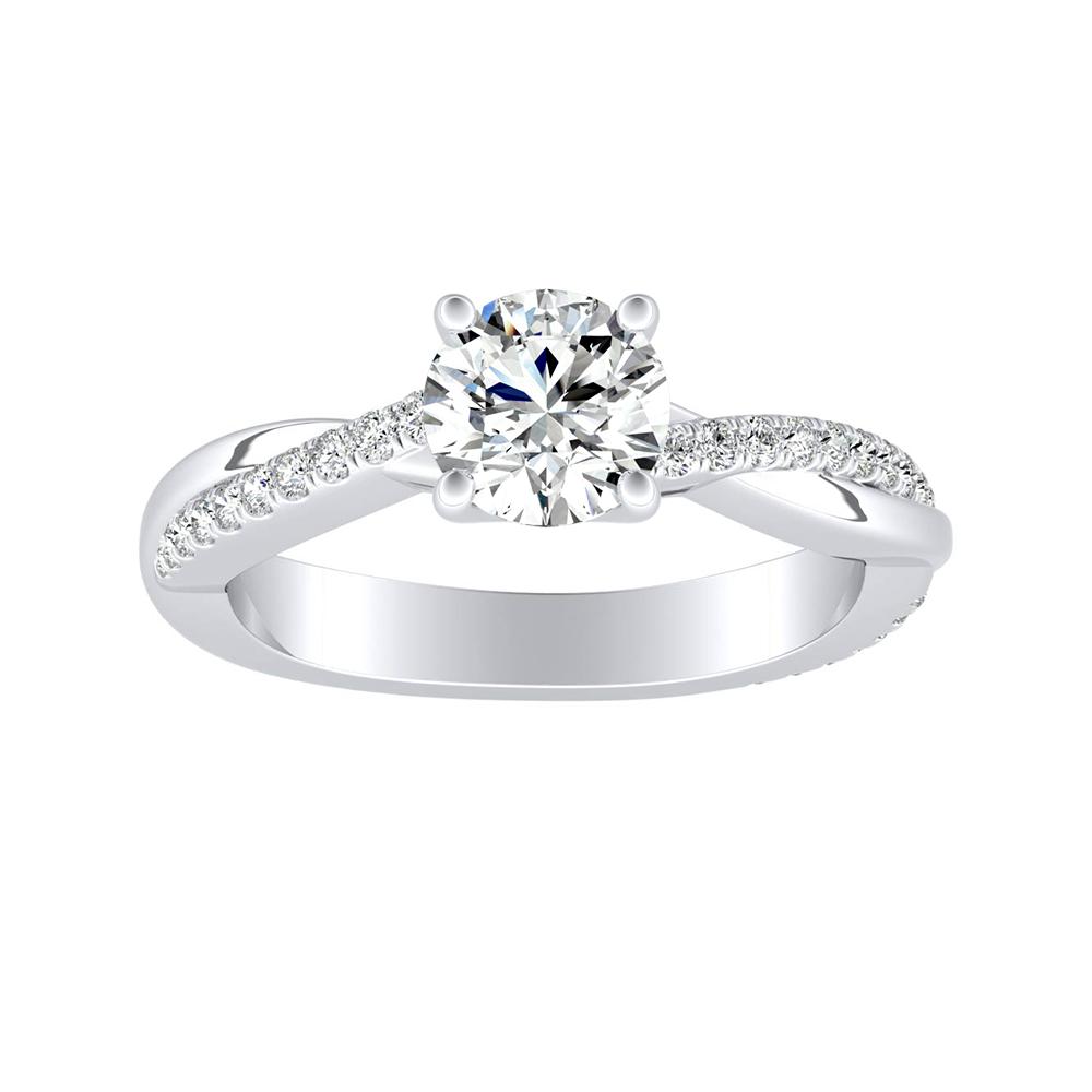 VIOLA Modern Diamond Engagement Ring In 14K White Gold