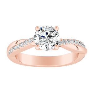 VIOLA Modern Diamond Engagement Ring In 14K Rose Gold