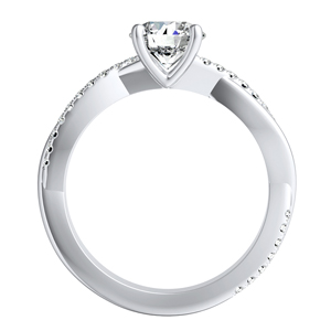 VIOLA Modern Diamond Engagement Ring In 14K White Gold With 0.50ct. Round Diamond