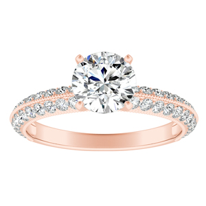 ZOEY Diamond Engagement Ring In 14K Rose Gold