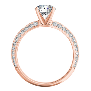ZOEY  Moissanite  Engagement  Ring  In  14K  Rose  Gold  With  0.50  Carat  Round  Stone