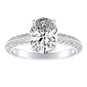 ZOEY Diamond Engagement Ring In 14K White Gold