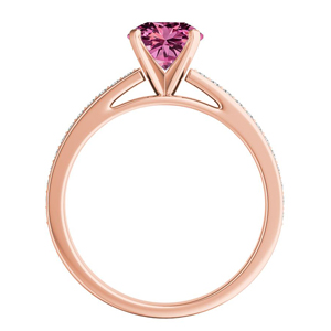MILA  Classic  Pink  Sapphire  Engagement  Ring  In  14K  Rose  Gold  With  0.50  Carat  Marquise  Stone