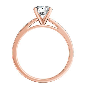 MILA  Classic  Moissanite  Engagement  Ring  In  14K  Rose  Gold  With  0.50  Carat  Round  Stone