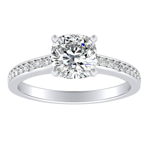 MILA Classic Diamond Engagement Ring In 14K White Gold
