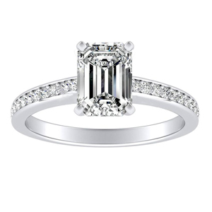 MILA Classic Diamond Engagement Ring In 14K White Gold