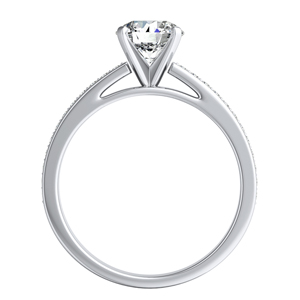 MILA Classic Diamond Engagement Ring In 14K White Gold With 0.50ct. Round Diamond