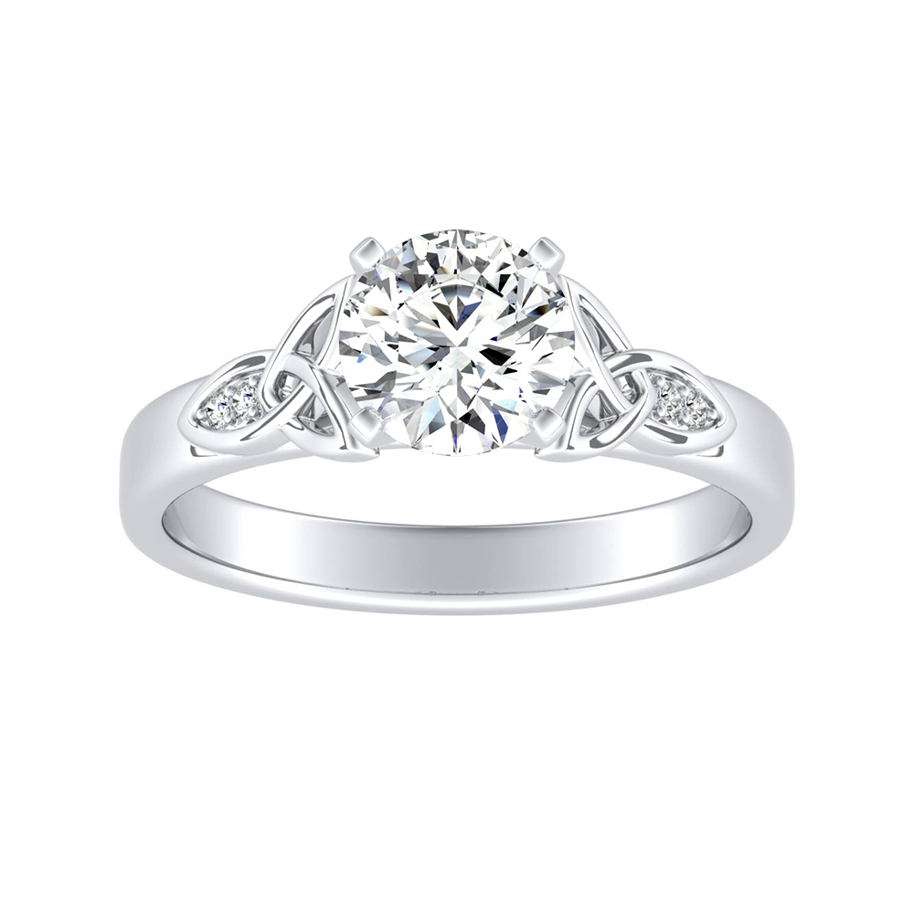 GIOVANNA Vintage Diamond Engagement Ring In 14K White Gold