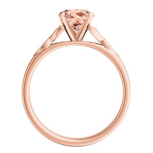 GIOVANNA  Vintage  Morganite  Wedding  Ring  Set  In  14K  Rose  Gold  With  1.00  Carat  Oval  Stone