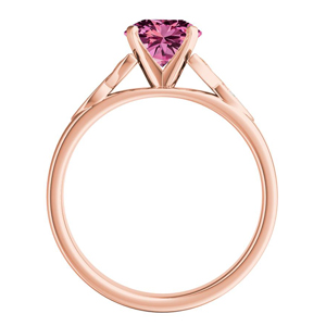 GIOVANNA  Vintage  Pink  Sapphire  Engagement  Ring  In  14K  Rose  Gold  With  0.50  Carat  Marquise  Stone