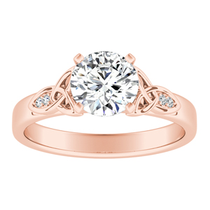 GIOVANNA  Vintage  Moissanite  Engagement  Ring  In  14K  Rose  Gold  With  0.50  Carat  Round  Stone
