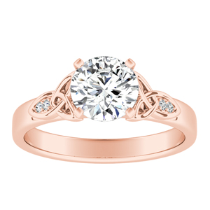 GIOVANNA Vintage Diamond Engagement Ring In 14K Rose Gold