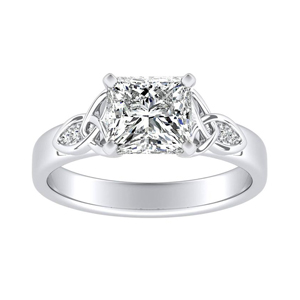 GIOVANNA Vintage Diamond Engagement Ring In 14K White Gold