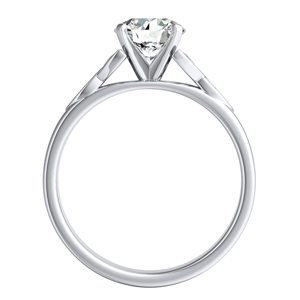 GIOVANNA  Vintage  Moissanite  Wedding  Ring  Set  In  14K  White  Gold  With  0.50  Carat  Round  Stone