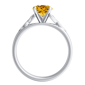 GIOVANNA  Vintage  Yellow  Diamond  Engagement  Ring  In  14K  White  Gold  With  0.50  Carat  Round  Diamond