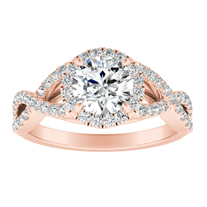 MADISON Modern Diamond Engagement Ring In 14K Rose Gold