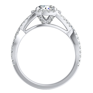 MADISON Modern Diamond Wedding Ring Set In 14K White Gold With 0.50ct. Round Diamond