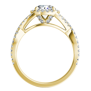 MADISON  Modern  Moissanite  Wedding  Ring  Set  In  14K  Yellow  Gold  With  0.50  Carat  Round  Stone