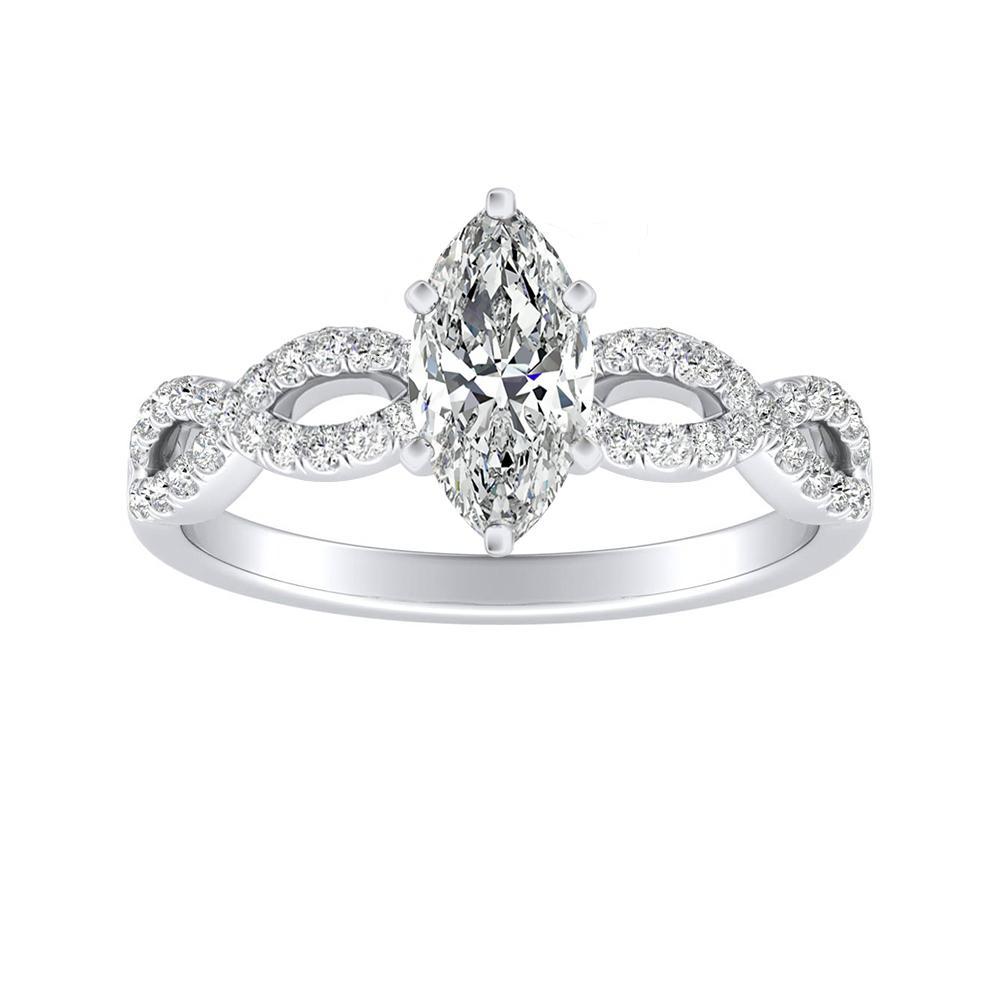 CARINA Diamond Engagement Ring In 14K White Gold