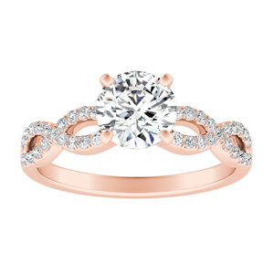 CARINA Diamond Engagement Ring In 14K Rose Gold