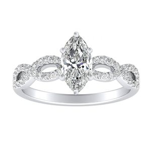 CARINA Diamond Engagement Ring In 14K White Gold