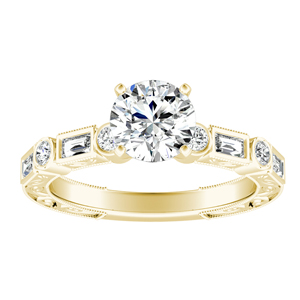 KEIRA Vintage Diamond Engagement Ring In 14K Yellow Gold