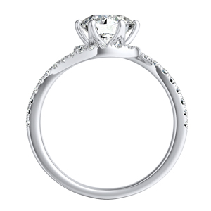 CORAL Modern Diamond Wedding Ring Set In 14K White Gold With 0.50ct. Round Diamond