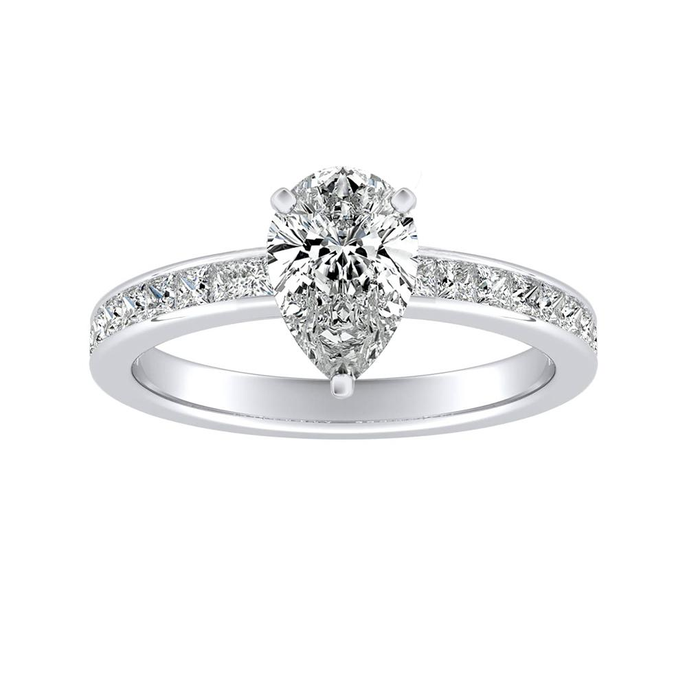 JOAN Classic Diamond Engagement Ring In 14K White Gold
