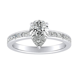 JOAN Classic Diamond Engagement Ring In 14K White Gold
